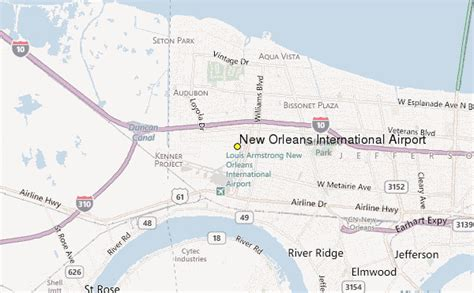 louisiana map airports new orleans international airport weather station record