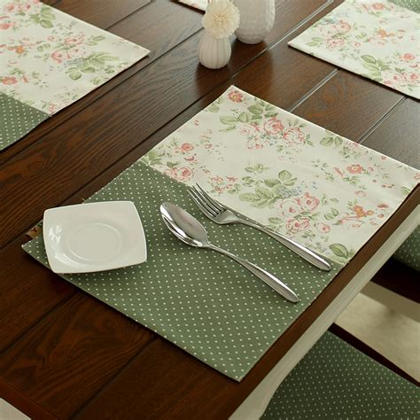 Patchwork Table Mats - free shipping rustic dot flower patchwork dining