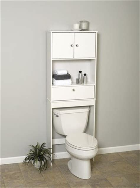 Mainstays Bathroom Wall Cabinet by Mainstays White Wood Spacesaver With Cabinet And Drop Door