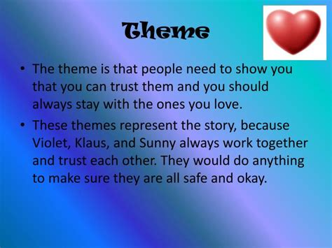 story themes about trust ppt the miserable mill by lemony snicket powerpoint