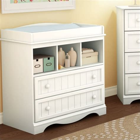 South Shore White Changing Table South Shore Handover Changing Table In White Finish 3580330