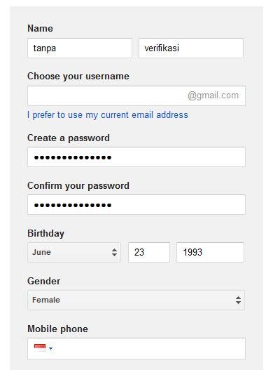 cara membuat gmail tanpa verifikasi sms cara membuat akun gmail tanpa verifikasi nomor telepon