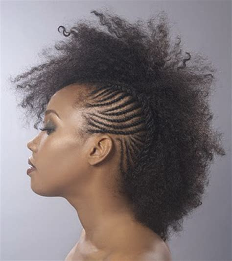 braided hairstyles in a mohawk mohawk braided hairstyles for black women