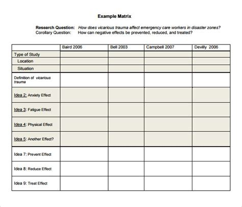 sle literature review template