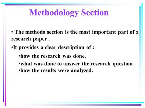methods section of a research paper business and management research ppt video online download