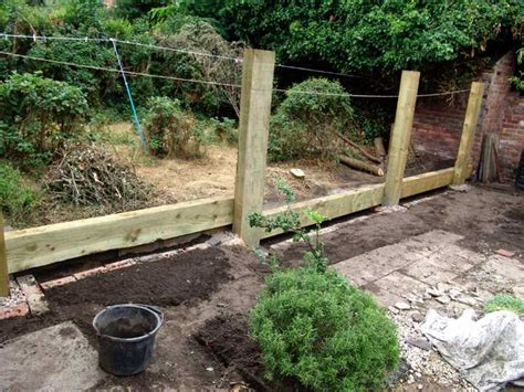 Fixing Sleepers by Paula Andy S Fencing And Hammock Project With