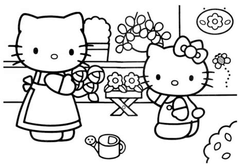 hello kitty mothers day coloring pages 20 free printable hello kitty coloring pages fit to print