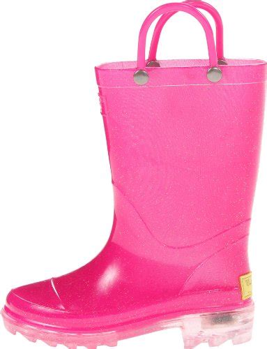 girls light up rain boots western chief girls light up rain boot solid pink 9 m us