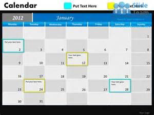 calendar template for powerpoint blue calendar 2012 powerpoint presentation slides db ppt