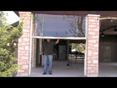 clear plastic curtains for screened porch rope and pulley rigged clear vinyl curtains youtube