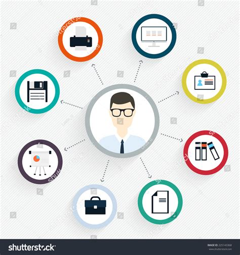 vector flat customer experience concepts vector flat customer office concept icons stock vector 225143368