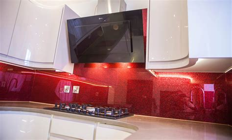 red granite red sparkle luxury glass splashback youtube