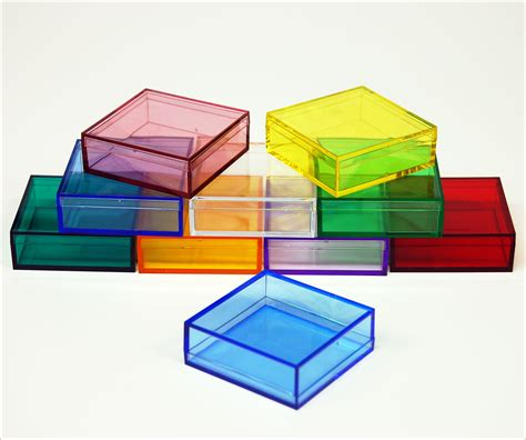 Acrylic Box colored plastic boxes colored display boxes colored