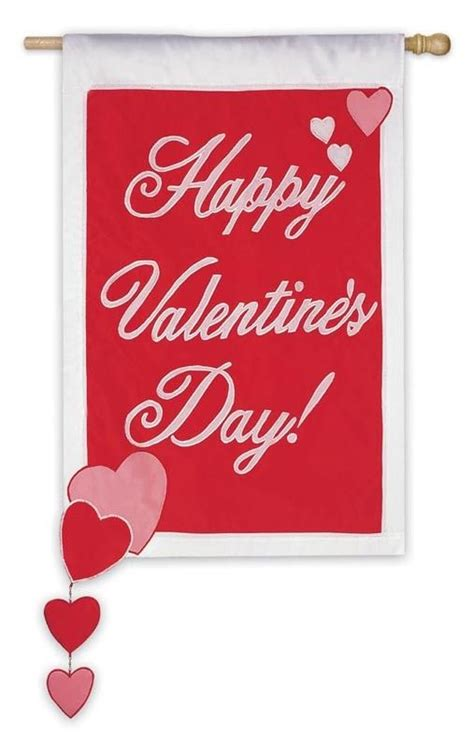 valentines flag trailing hearts s day house flag