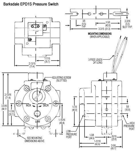 barksdale epd1s stripped differential pressure switch