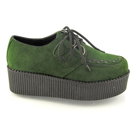 lace up flat platform womens creepers