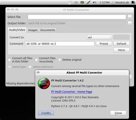 format audio ubuntu mobile media converter free download for ubuntu