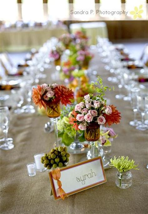 Gold Vases For Wedding A Pop Of Color Rustic Wedding Chic