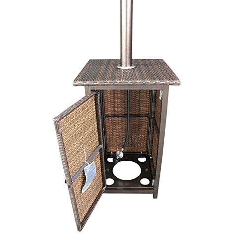 stand up propane patio heater homcomfort gh liquid propane gas patio heater with wicker
