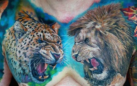 animal tattoo chest animal chest tattoos designs ideas and meaning tattoos