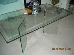2 750 obo all glass beveled dining table w 4