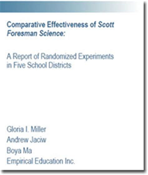 report front page template empirical education inc science