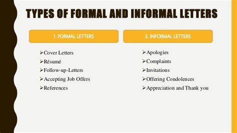 Types Of Letters