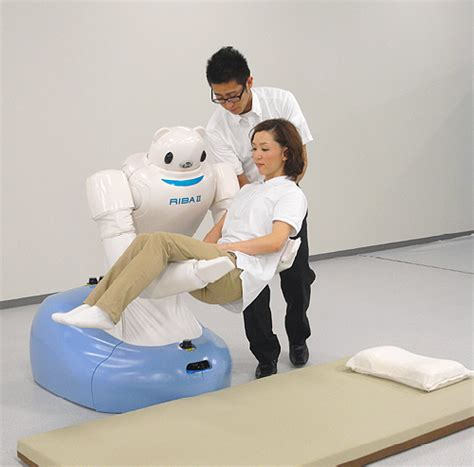 Vs Machine Robots At Japanese Hospital by Riba Ii The Next Generation Care Giving Robot Riken