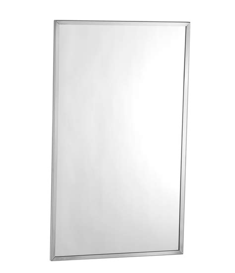 bobrick b 165 2436 channel frame mirror 24 quot x 36 quot b 165 2436 channel frame