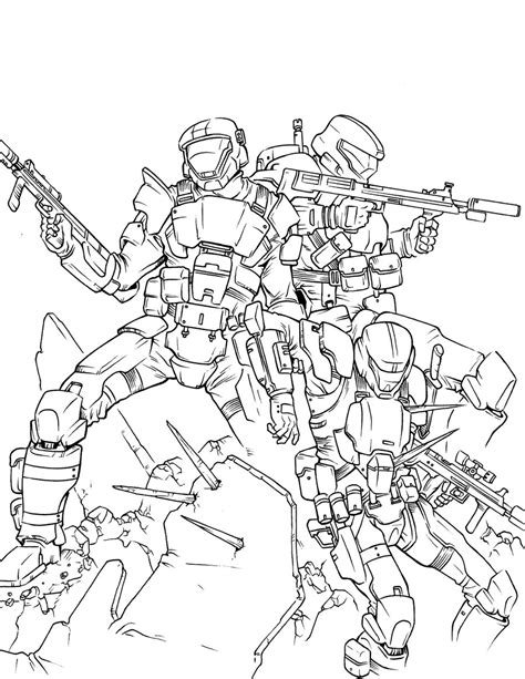 top halo 3 colouring pages images for 13664