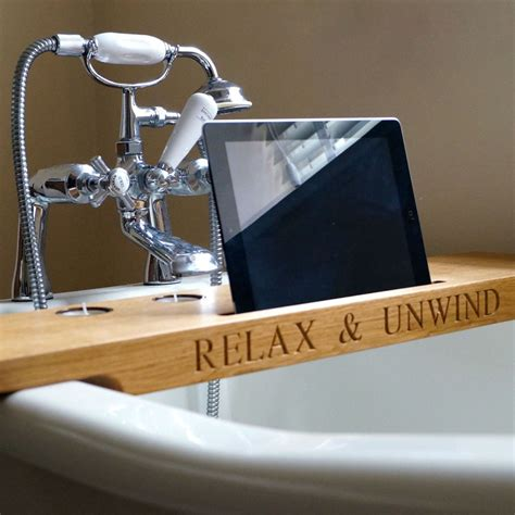 tray bathroom personalised wooden bath tray gift ideas mygiftgenie