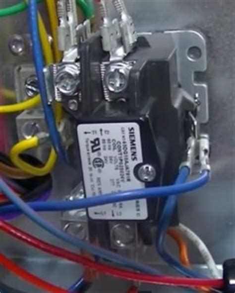 replacing a relay contactor on a heat hvac how to
