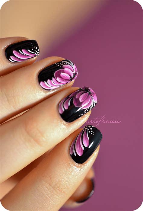 nail art tutorial zhostovo nail art zhostovo fleur de lotus tartofraises