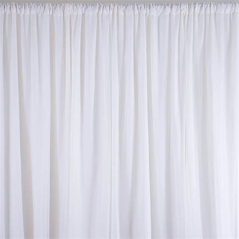 White Silk Curtains White Sheer Silk Drapes Panels Hanging Curtains Backdrop Home Wedding Decor Alex Nld