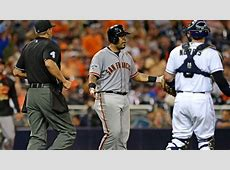 Padres Pitcher Throws Gum At Hector Sanchez After Grand ... 2015 Mlb Catcher Stats