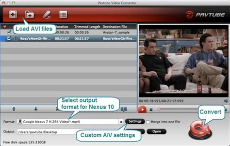format converter nexus avi and google nexus 10 how can i play divx xvid avi on