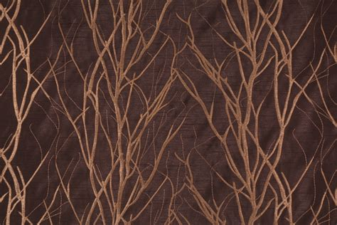 polyester drapery fabric grove in wenge embroidered polyester drapery fabric by bravo