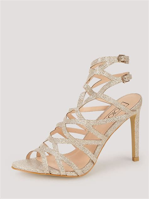 Cross Heeled Sandals buy intoto cross caged heeled sandals for