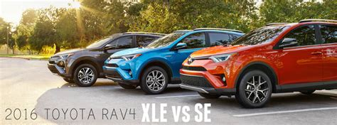Toyota Rav4 Model Comparison 2016 Toyota Rav4 Xle Vs Se