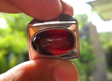 Batu Kerang Tulisan Arab koleksi batu antik ym16 batu yaman merah asli dari