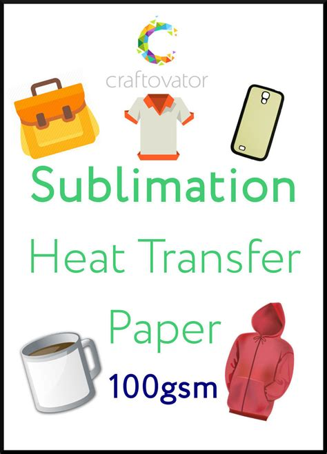 How To Make Heat Transfer Paper At Home - sublimation heat transfer paper craftovator