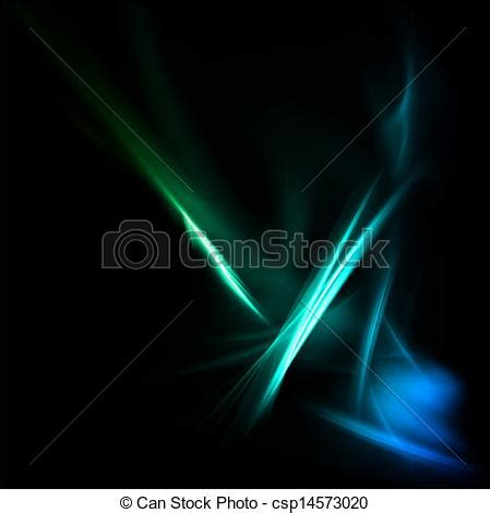 vector illustration of magic neon light curved lines