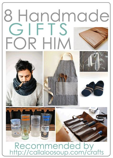 Handmade For Him - 8 diy gifts for him as recommended by callaloo soup