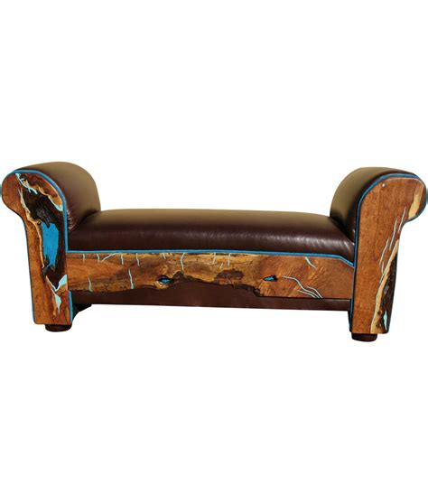 turquoise leather bench turquoise leather bench turquoise eloquence bench rustic artistry