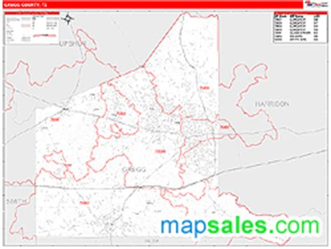 map of gregg county texas gregg county tx zip code wall map line style by marketmaps