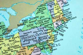 Map Of Ohio And New York by Pennsylvania State Lesson With Photos Pa Symbols