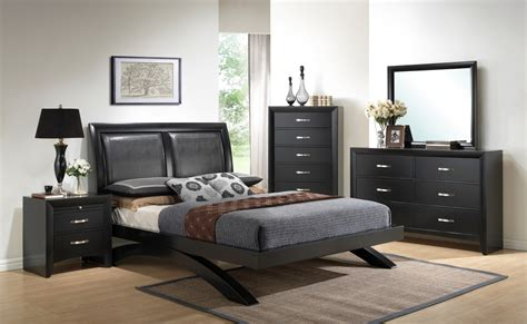 crown mark furniture galinda arch bedroom set  black
