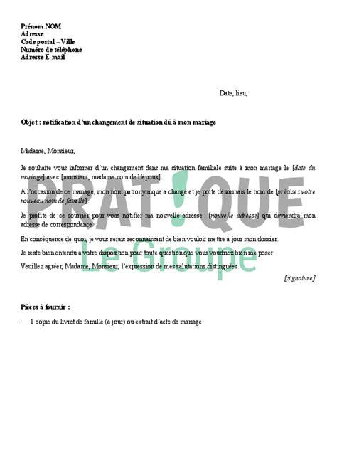 Exemple De Lettre Pour La Caf Lettre 224 La Caf D 233 Claration De Mariage Pratique Fr