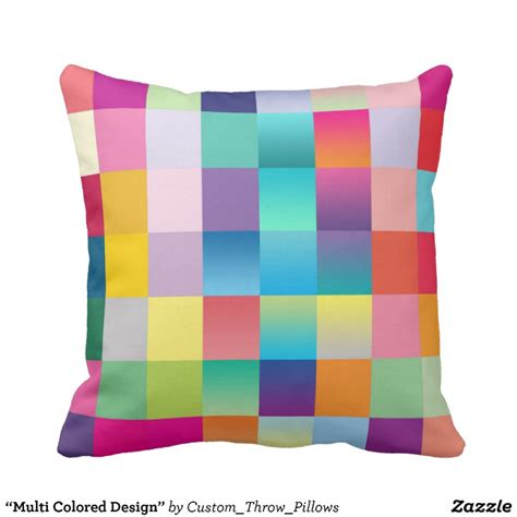 Multi Colored Pillows by Multi Colored Design Throw Pillow Zazzle