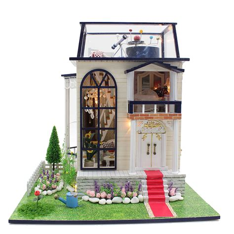 homemade wooden doll houses diy wooden dolls house miniatures dollhouse 3d handmade white chocolate room english instruction